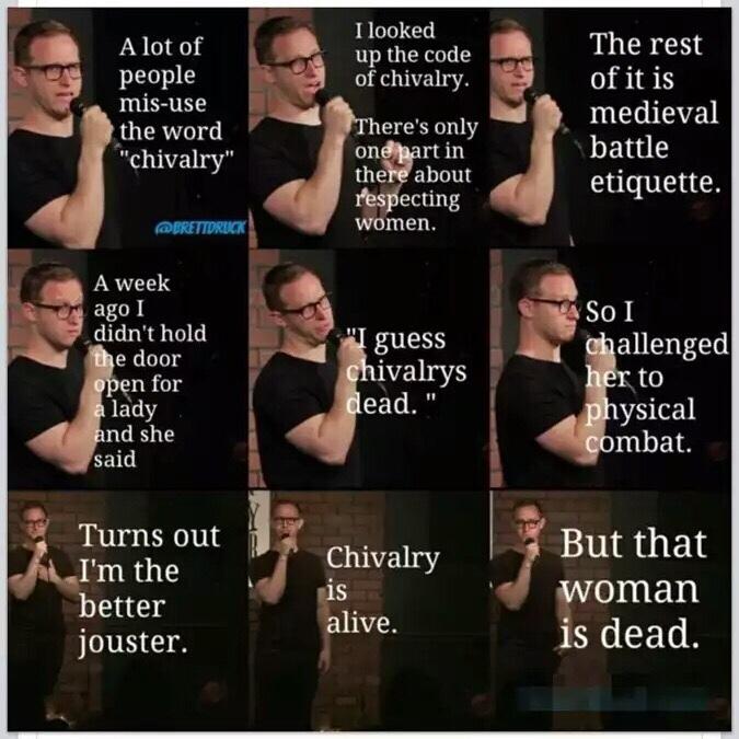 chivalry and shite - meme