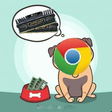 "Chrome ""Woof, Woof"" - meme"