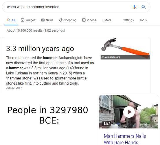 3297981 is 3.3 million years ago - meme