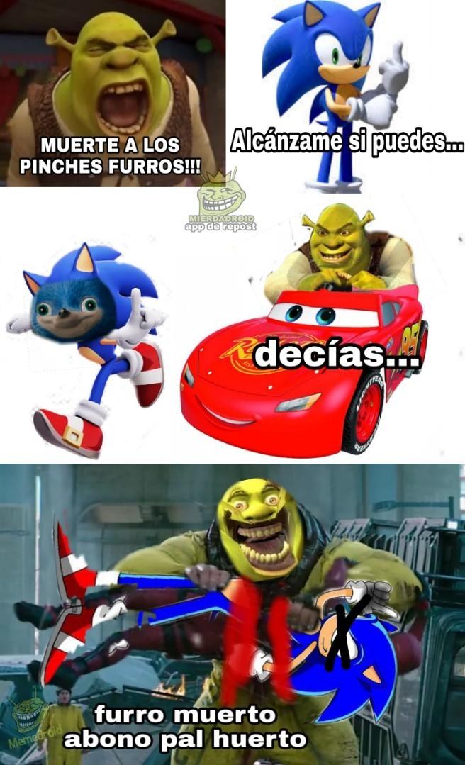 Sonic = furro fome - meme
