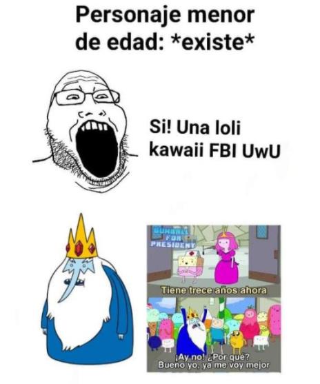 Un grande el rey helado - meme