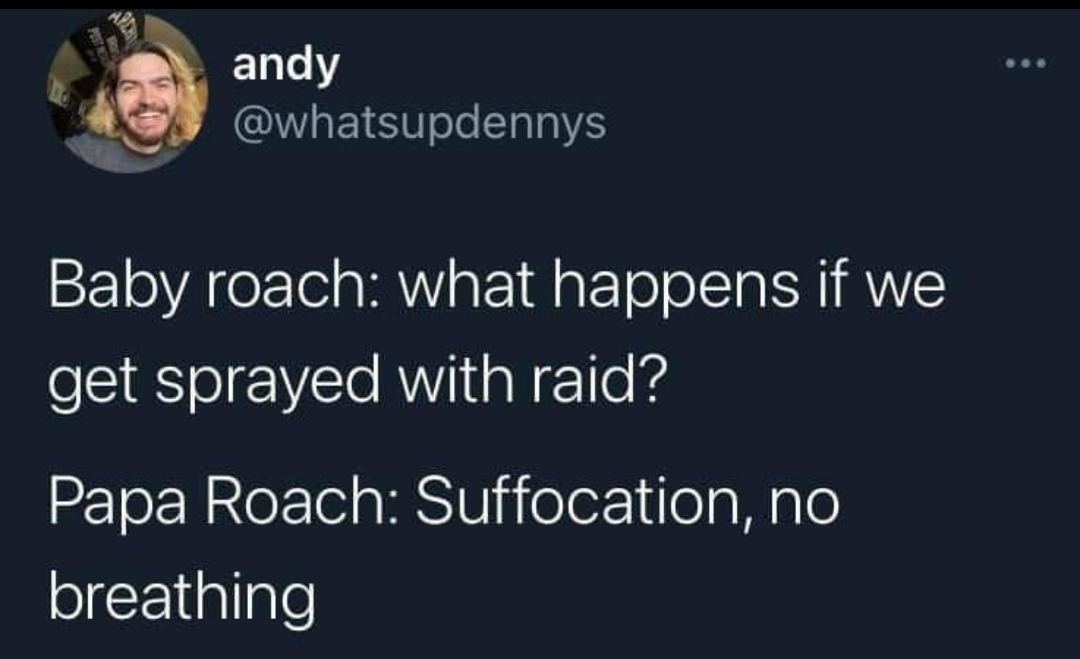 Ah papa roach. My high school days - meme