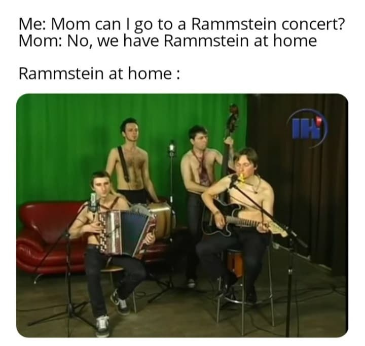 rammstein at home - meme