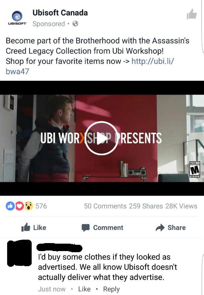 ubisoft downgrades - meme