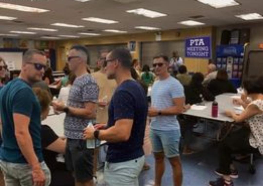 Just normal dudes at the PTA meeting - meme