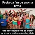 Festa de fim de ano >>>>> novelas da Globo