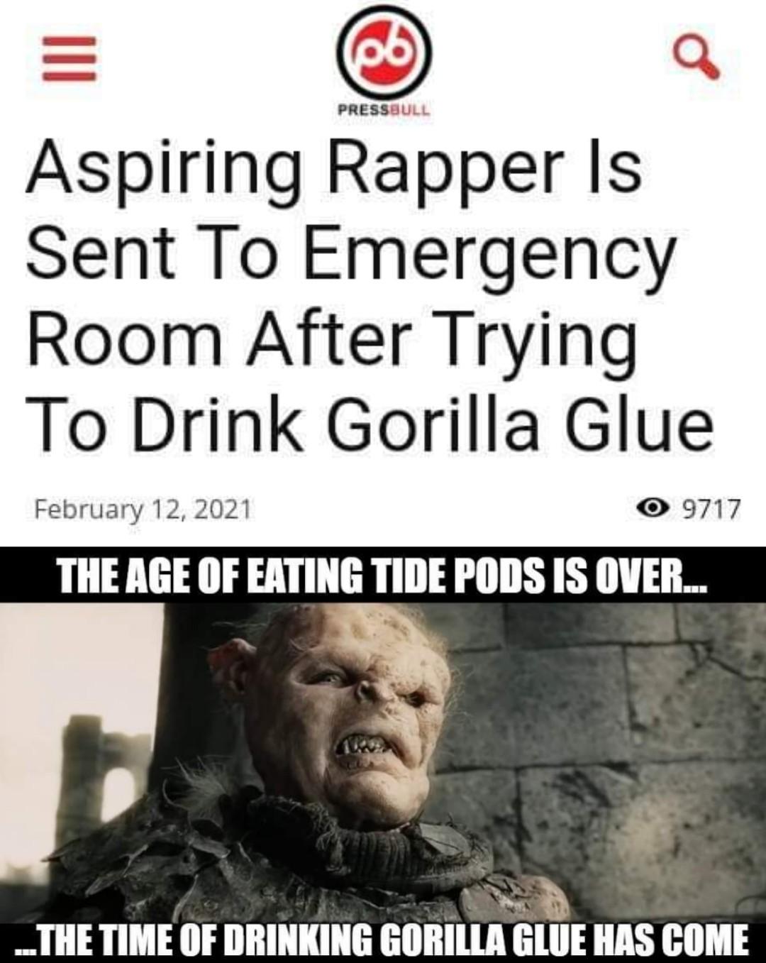 Gorilla Glue - meme