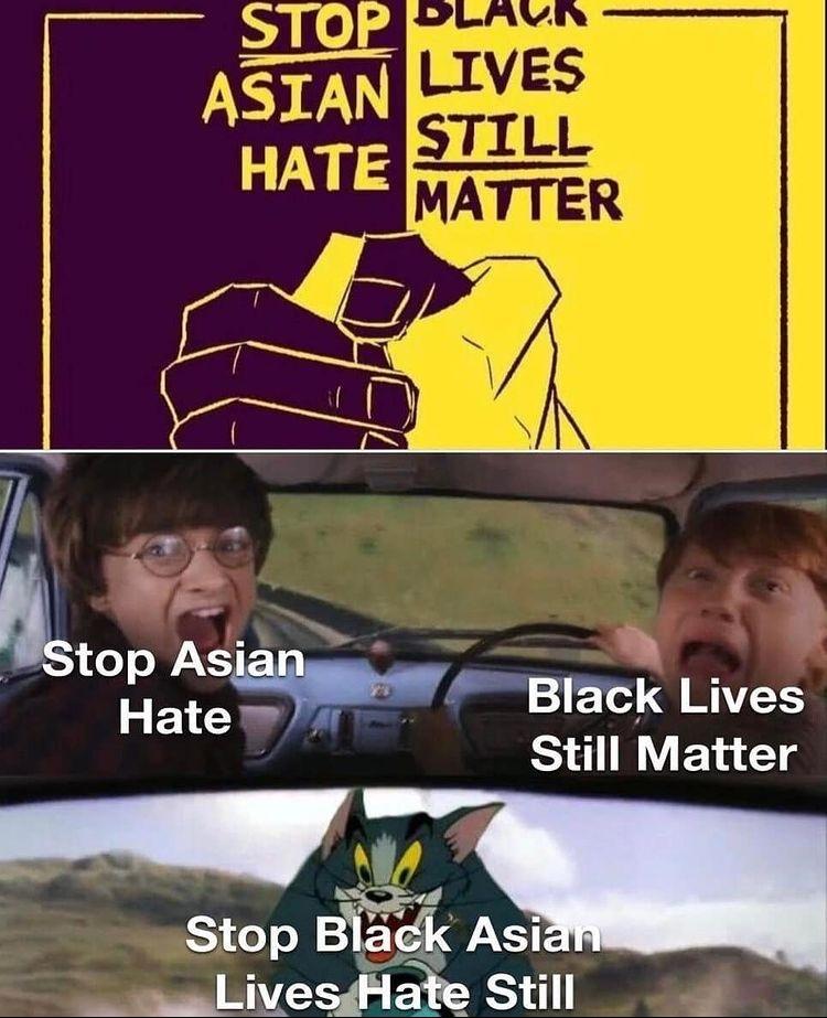 stop black Asian - meme