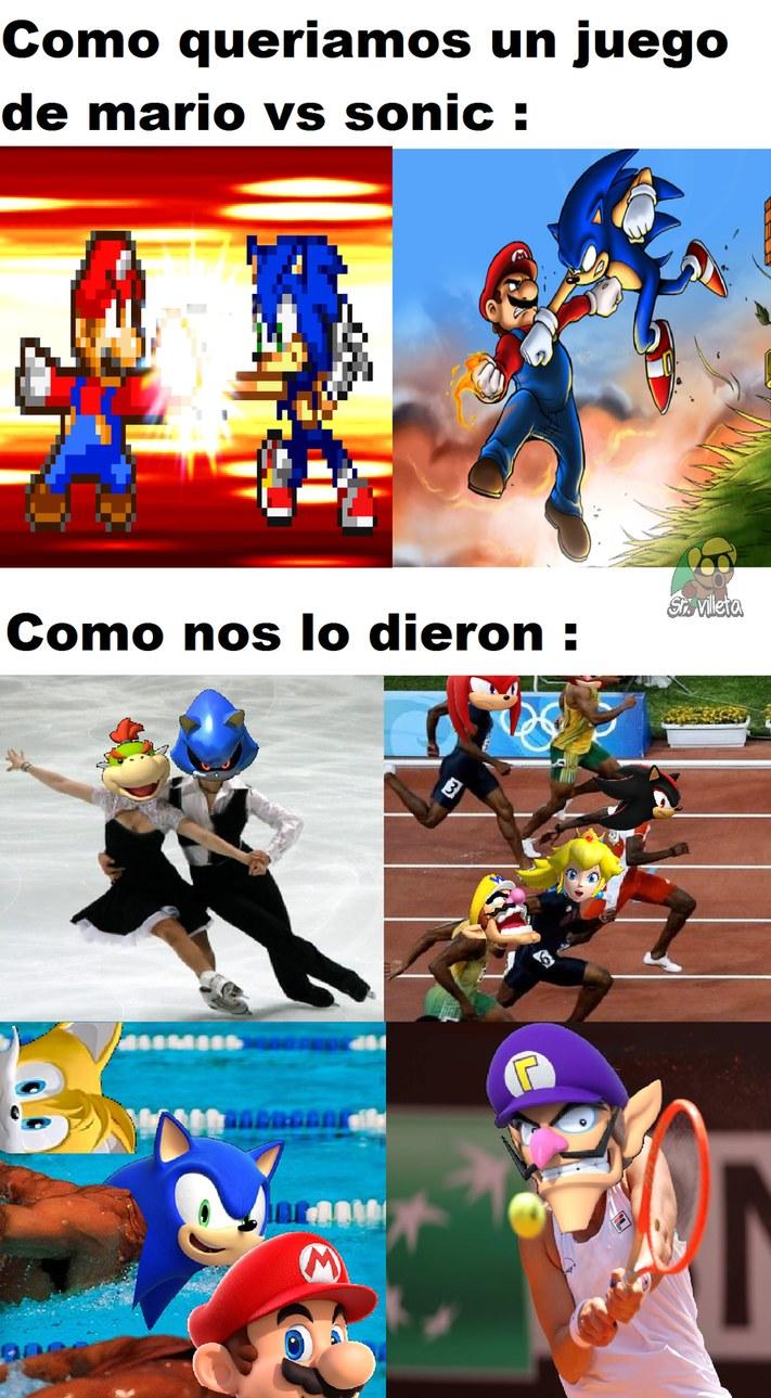SONIC PORQUE CORRES TAN LENTO EN ESTE JUEGO ????? - meme