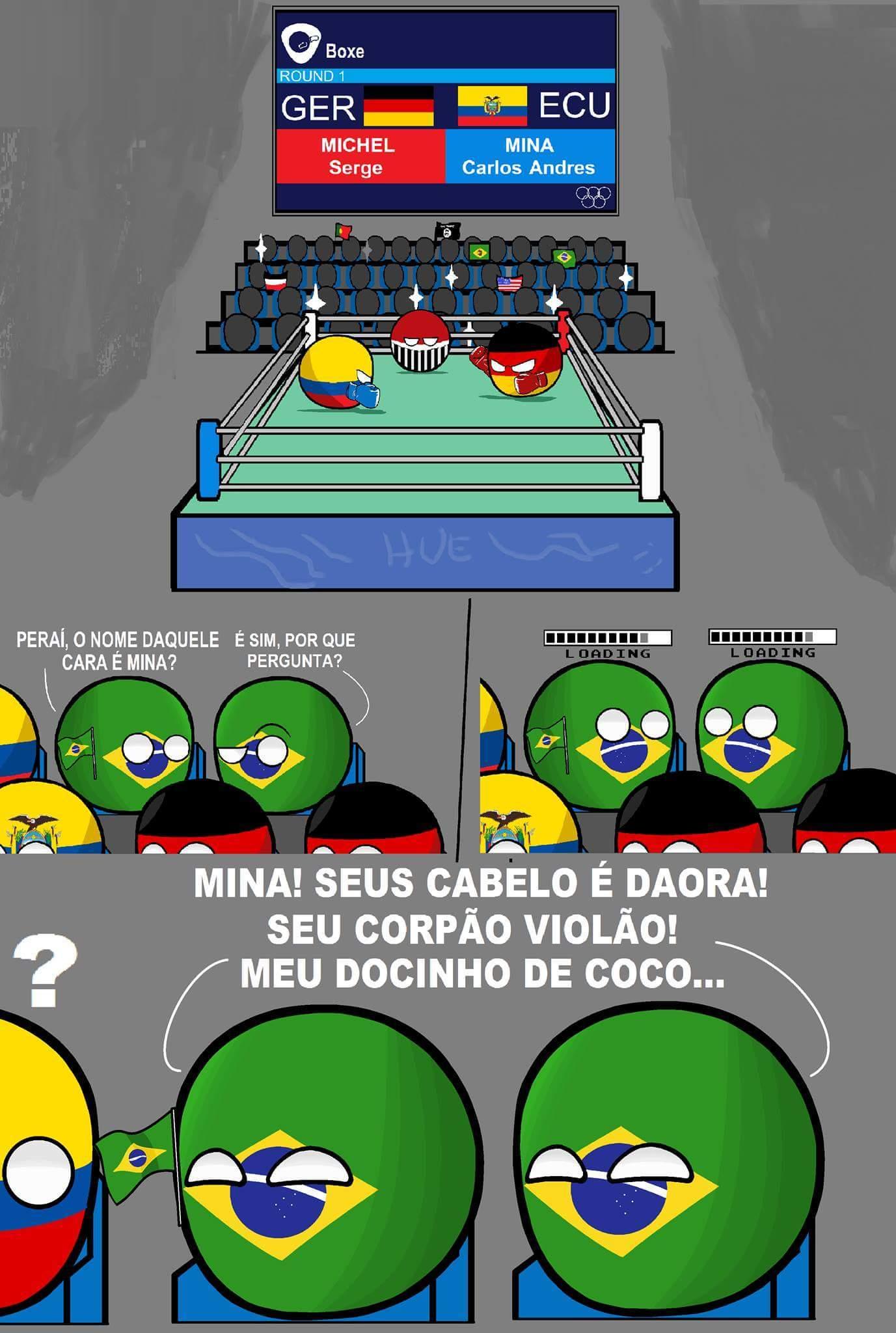 Brasileiro é foda (isso aconteceu mesmo em uma luta de boxe) - meme
