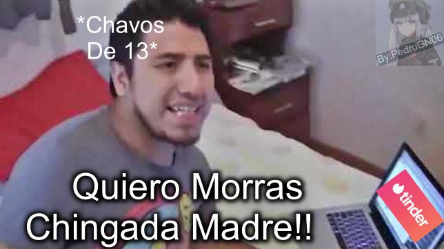 Los Chavos en Tinder - meme