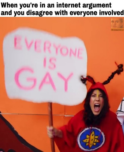 Everyone is gay in the New Age - meme