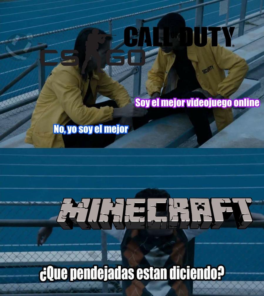 Estaba entre el Minecraft y el TeamFortress 2 - meme