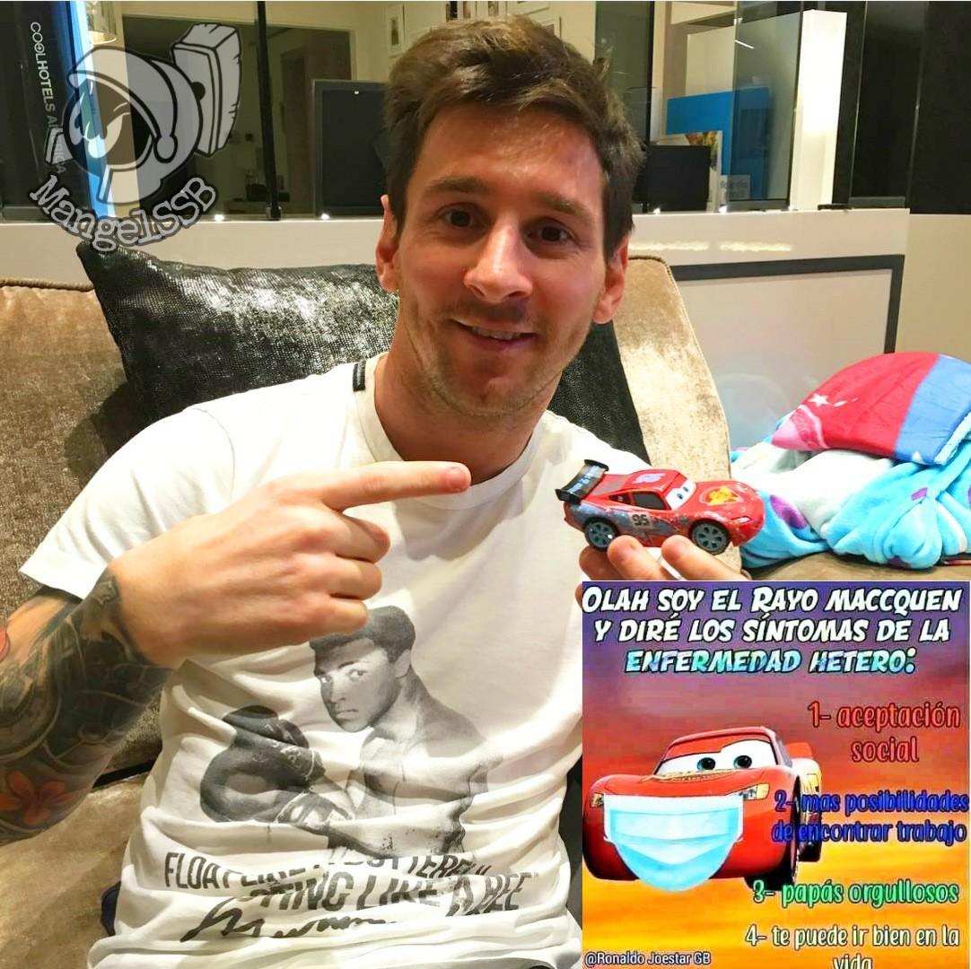 Un meme contra los progres tan original como la foto de Messi con el Rayo XD (esa foto la encuentras en su insta)