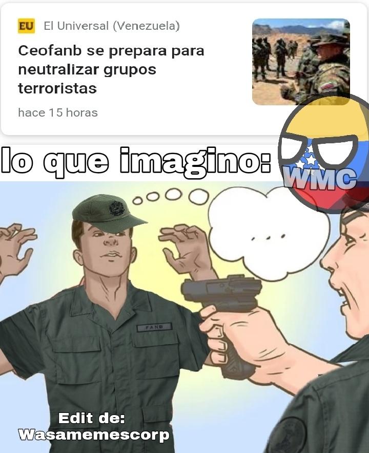 Todos los militares son corruptos - meme
