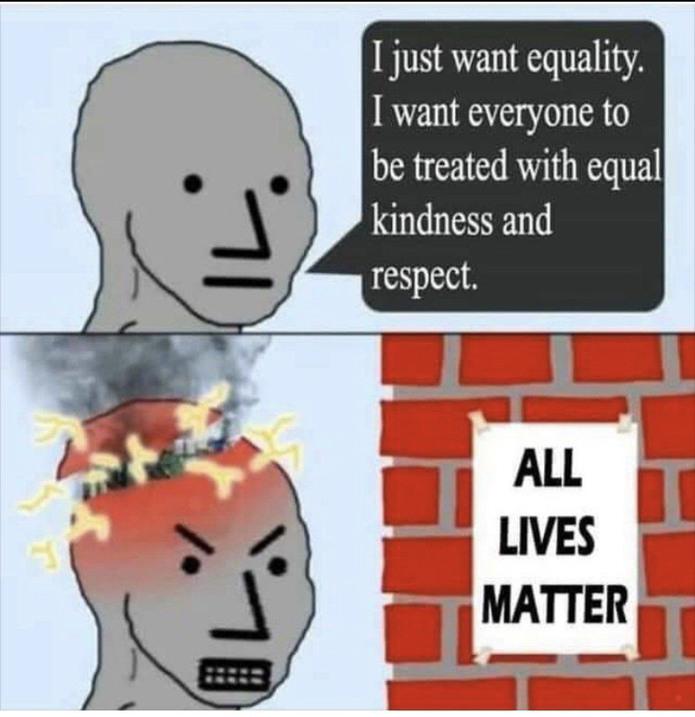 All lives matter or no lives do - meme