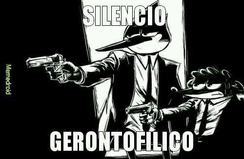 Silencio gerontofilico - meme