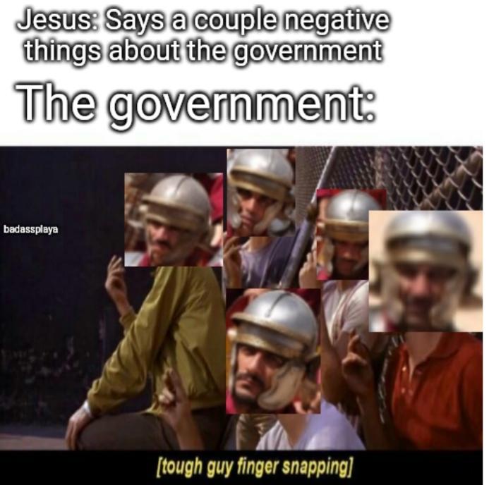 He in trouble - meme