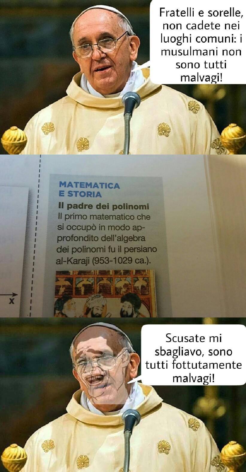 Il papa mi ha dato un paio di idee così a bruciapelo - meme