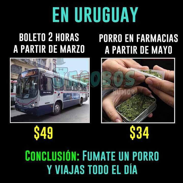 acá en Uruguay - meme