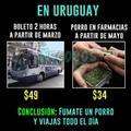 acá en Uruguay