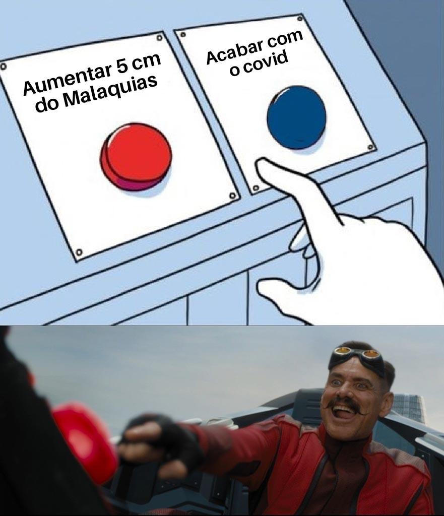 Covid botão vermelho - meme