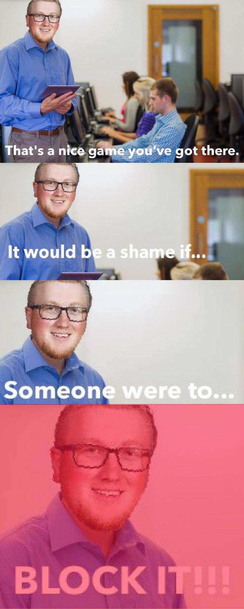 The school tech department be like.... - meme