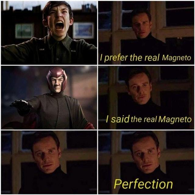 The real Magneto - meme
