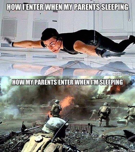 I vs my parents - meme