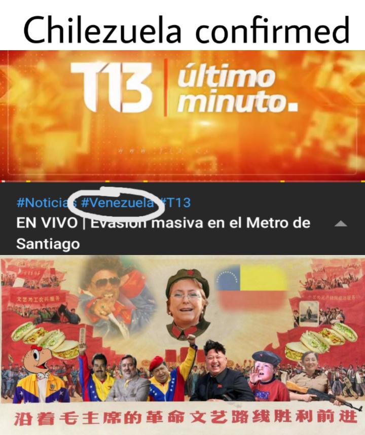 Metro de Santiago - Chile - meme