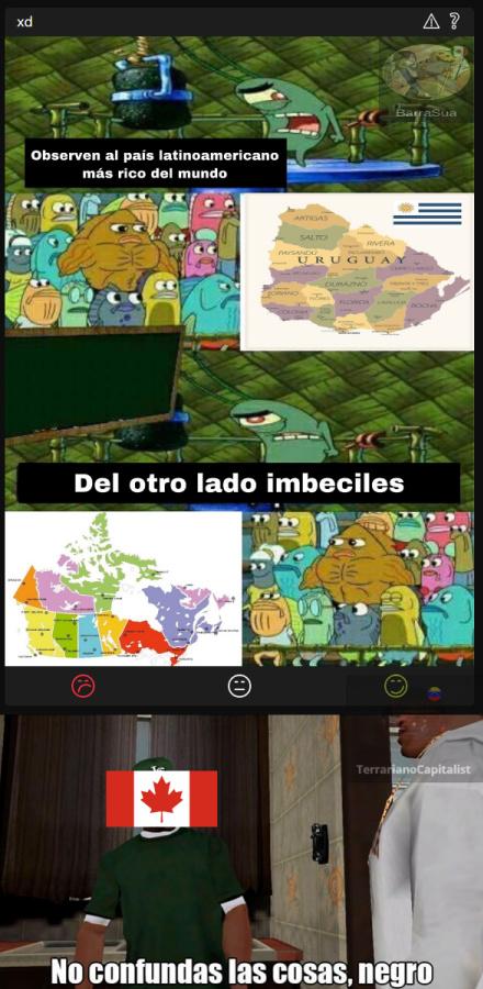¿Qué clase de imbécil piensa que Canadá queda en Latinoamérica? :jackie: - meme