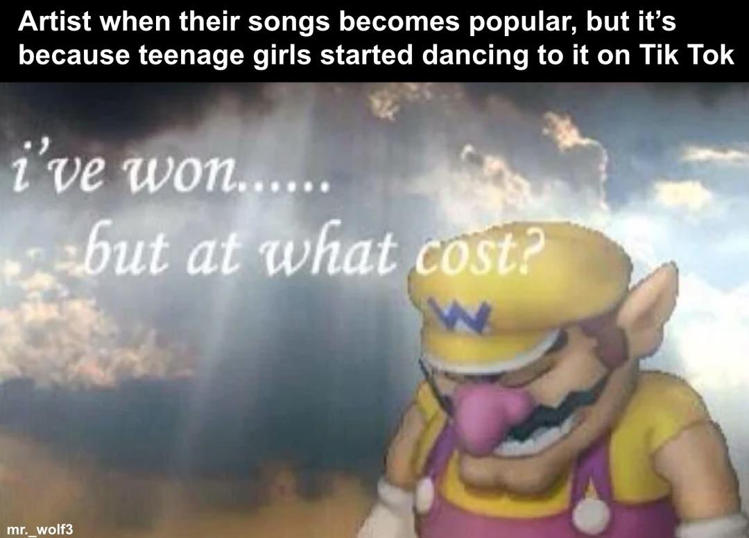 tik tok dances are cringe - meme