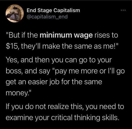 Raise the minimum wage already - meme