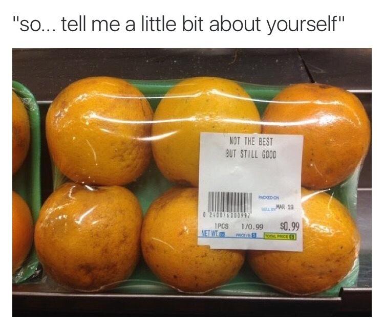 me as an orange - meme