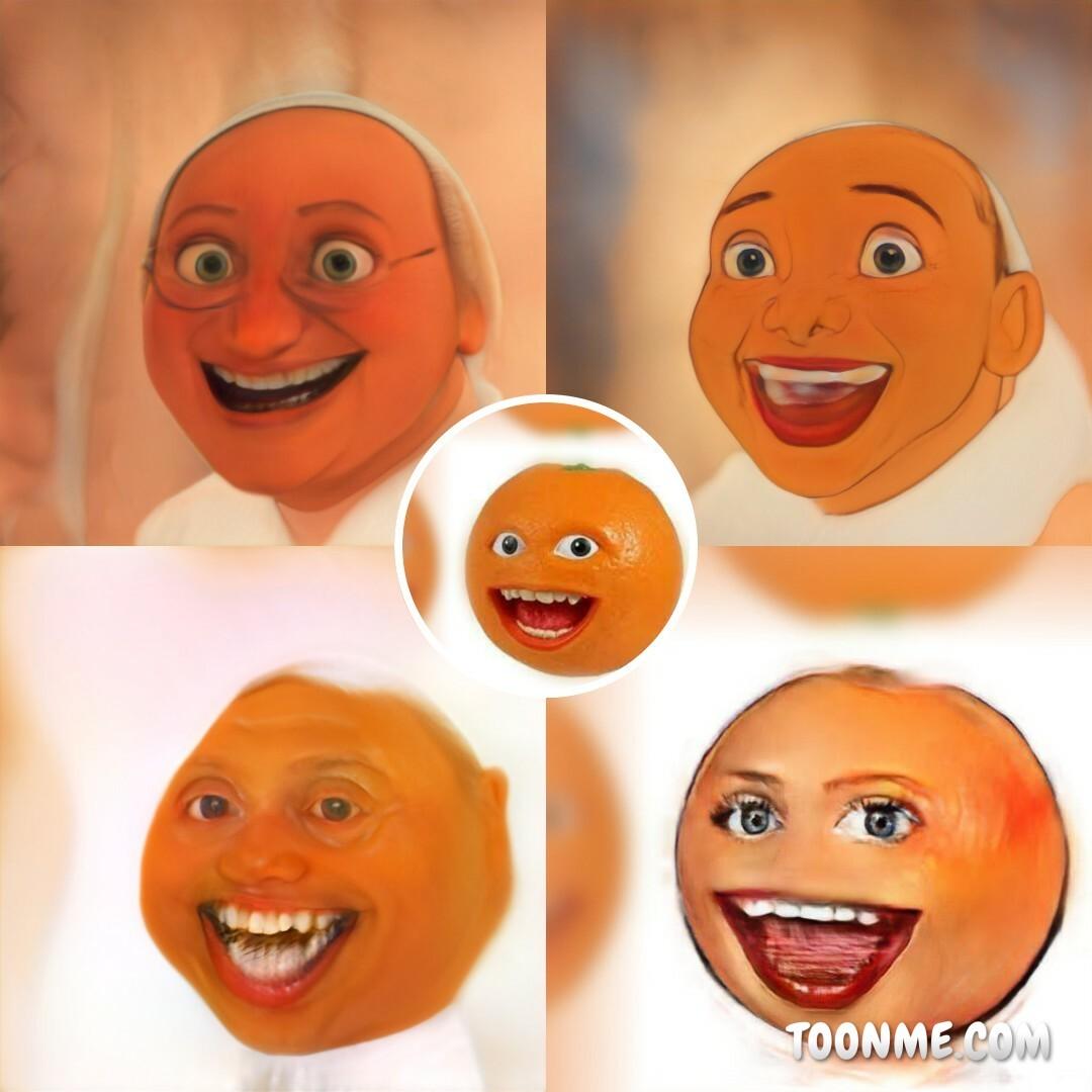 La naranja molesta - meme