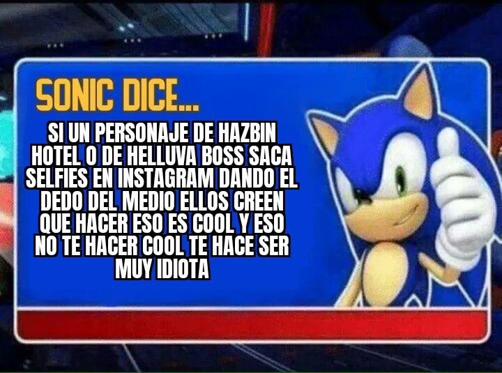 Un Consejo De Sonic - meme