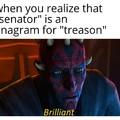 It's senator, then