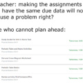 when teachers do not do the planning for you