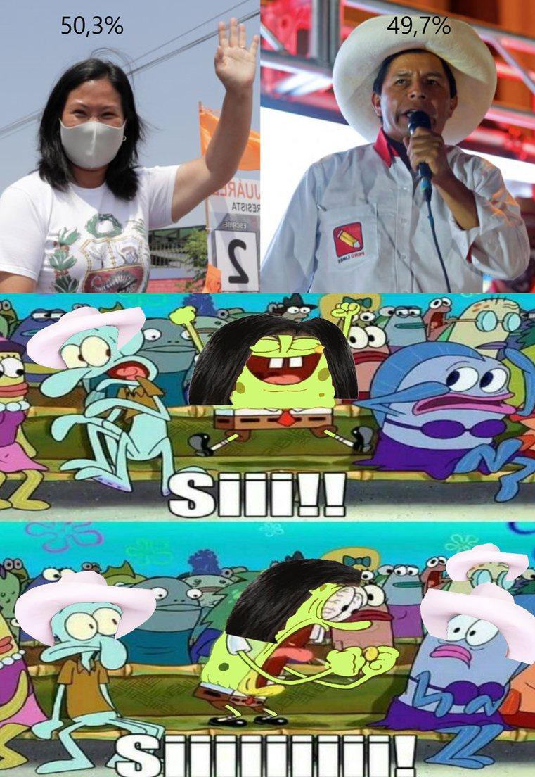 Keiko fujimori alcanzo el flash electoral en 2021 - meme