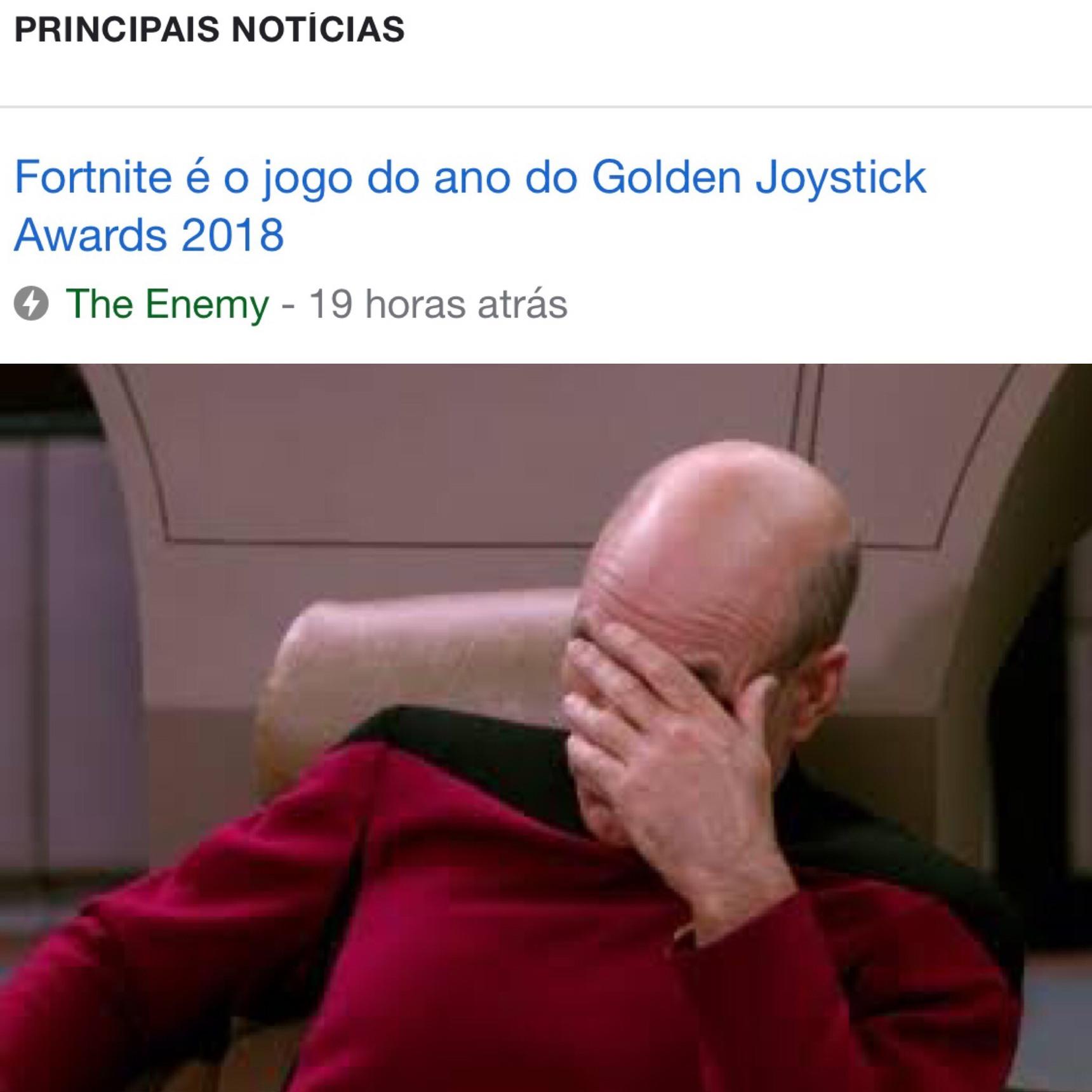 O título foi ser eleito O JOGO do ano - meme