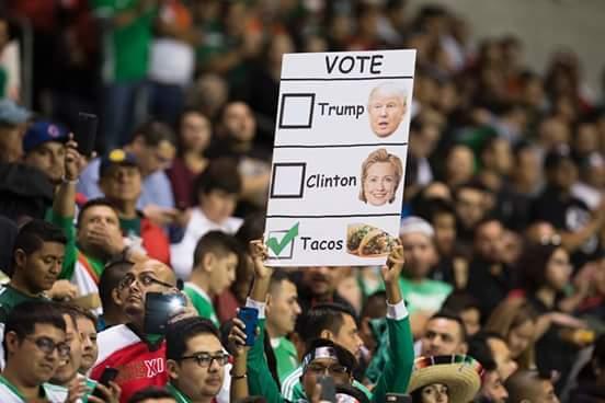 Ya saben por quien votar - meme