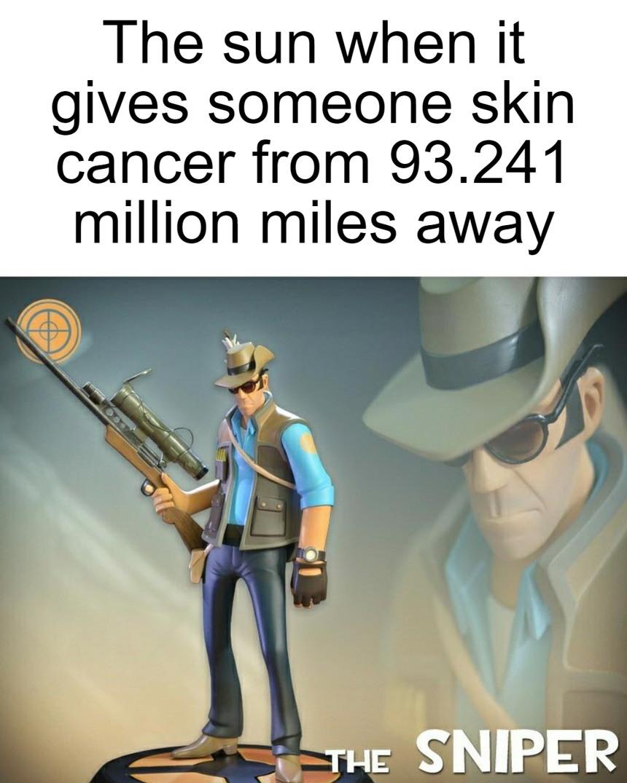 he uses mil-dot scopes - meme