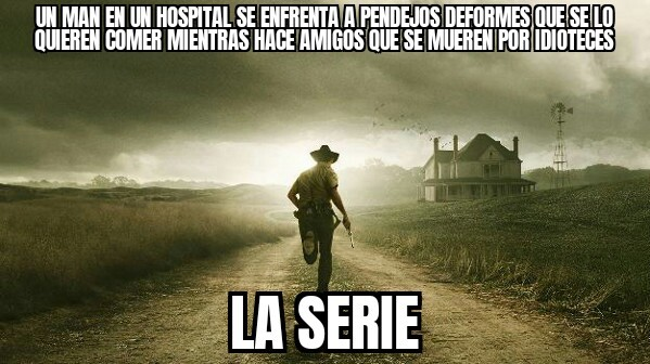 The walkin dead resumido - meme