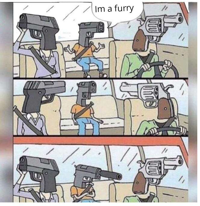 GAY FURRY TRASH - meme