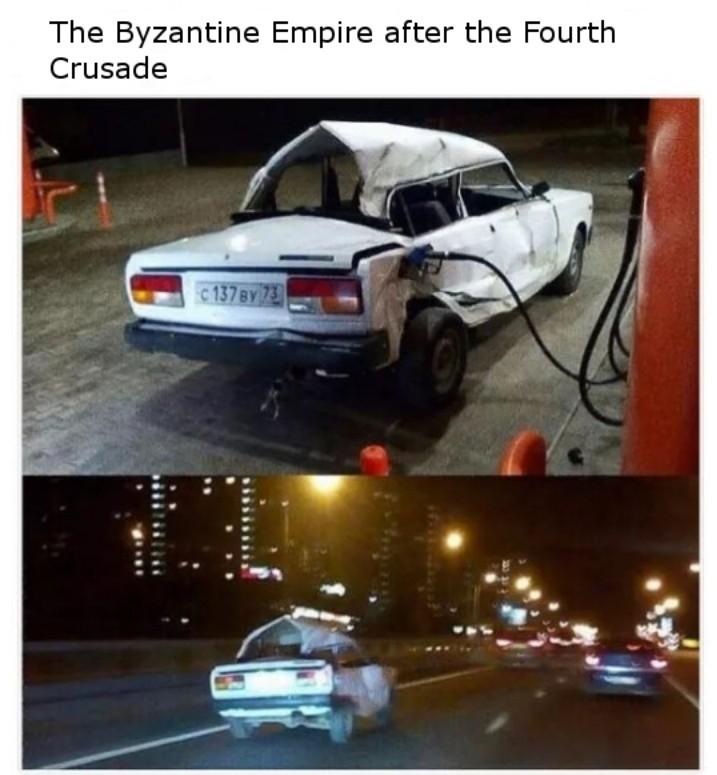 Fuck the crusaders. Justinian great tho - meme