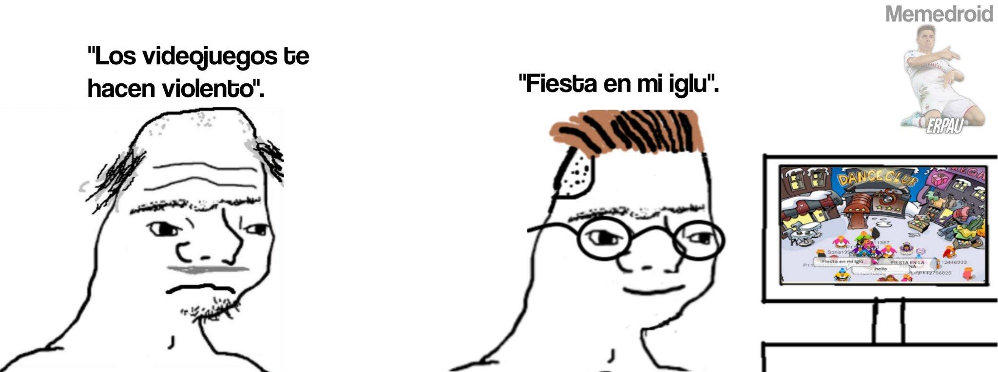 Fiesta en mi iglú ._.XD - meme