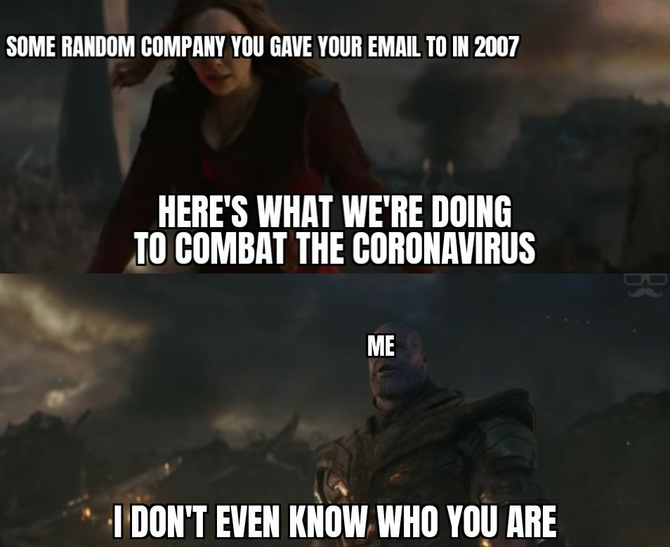 But seriously, stop with these emails - meme