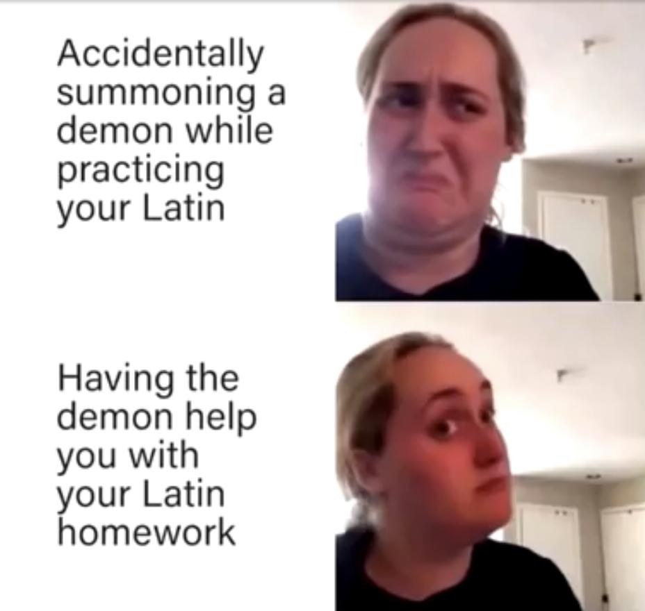 Not all demons are bad - meme
