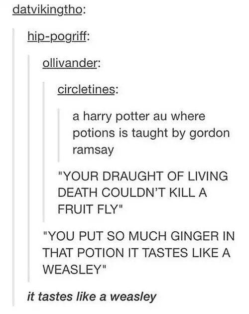 Tastes like a weasley - meme
