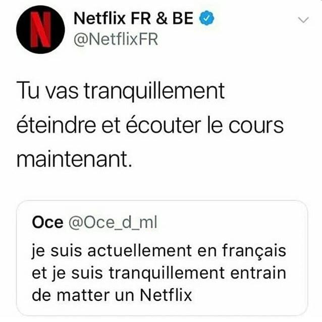 Quand Netflix se mêle de ta vie privée - meme